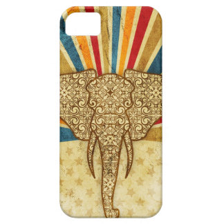 Vintage Damask Circus Elephant iPhone 5 Cases