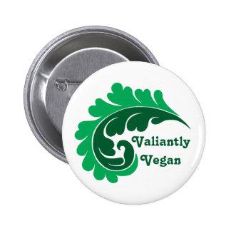 Vintage damask leaf Valiantly Vegan Buttons