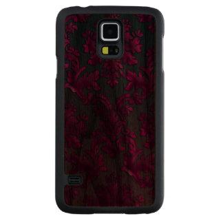 Vintage Damask on Dark Wood Samsung Galaxy Case