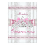 Vintage Damask Quinceanera 15th Birthday Party Custom Announcement