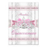 Vintage Damask Quinceanera 15th Birthday Party 9 Cm X 13 Cm Invitation Card