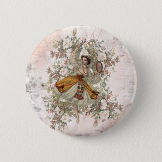 Vintage Dancing Gypsy Floral Mix and Match 6 Cm Round Badge