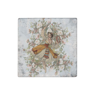 Vintage Dancing Gypsy Floral Mix and Match Stone Magnet