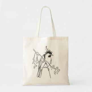 Vintage Dapper Bird Canvas Bag