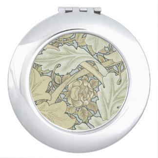 Vintage Designer Art Nouveau Floral Pattern Compact Mirror