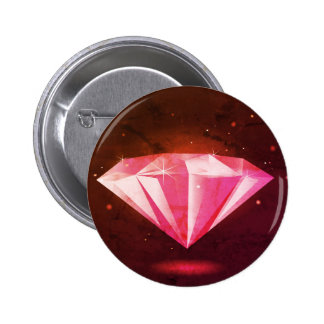 Vintage diamond : Authors illustration 6 Cm Round Badge