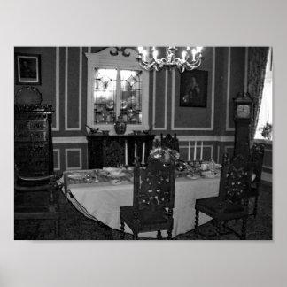 Vintage Dining Room  Antique Furniture Poster