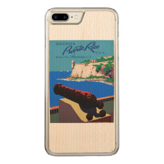 Vintage Discover Puerto Rico U.S.A. WPA Poster Carved iPhone 8 Plus/7 Plus Case