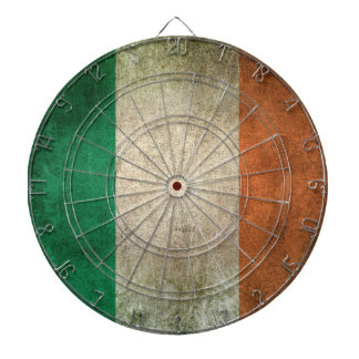 Vintage Distressed Flag of Ireland Dartboard