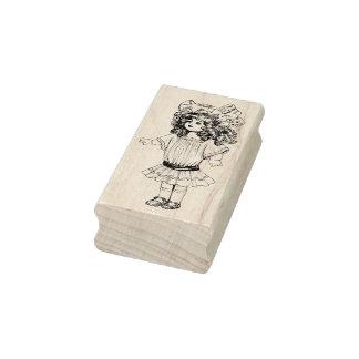 Vintage Doll Rubber Art Stamp