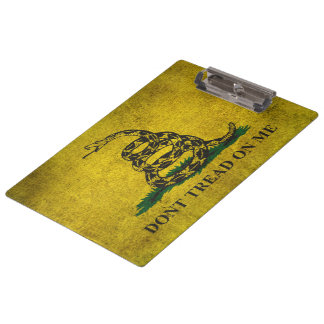 Vintage Don't Tread on Me Gadsden Flag Clipboard