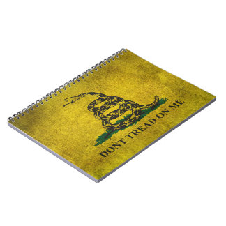 Vintage Don't Tread on Me Gadsden Flag Spiral Notebook