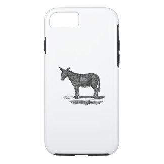 Vintage Donkey Illustration -1800's Donkeys iPhone 8/7 Case