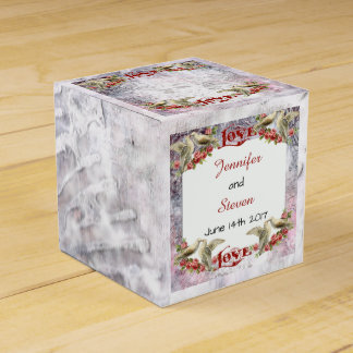 Vintage Dove Wedding Favor Box Party Favour Box