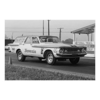 Vintage Drag - 1962 Dodge Wagon - Nemesis Poster