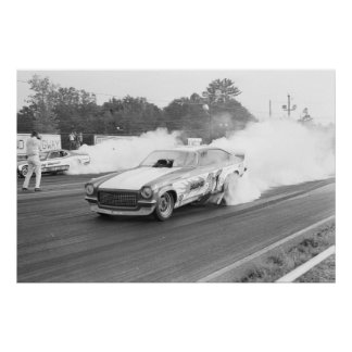 Vintage Drag - DragOn Vega Funny Car Poster