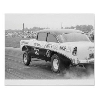 Vintage Drag - Hut's Dyno '56 Chevy Gasser Poster