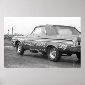 Vintage Drag - Maximum Performance 1964 Dodge Poster