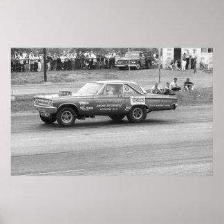 Vintage Drag - McJury Dodge AF/X Poster