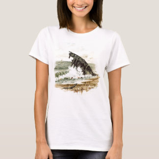 Vintage Drawing: Shipwreck on the Beach T-Shirt