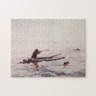 Vintage Duck Hunter Sea Kayak Rifle Jigsaw Puzzle