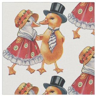 Vintage Ducklings Fabric