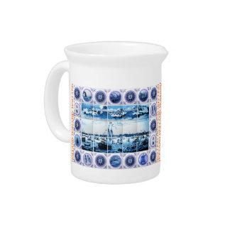 Vintage Dutch Delftware/ Delft-Blue-Look Holland Drink Pitcher
