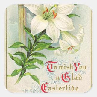 Vintage Easter art Holiday sticker
