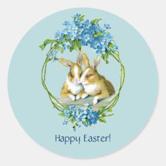 Vintage Easter Bunnies Sticker