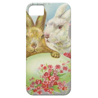 Vintage Easter Bunnies With Easter Egg Easter Card iPhone 5 Cases