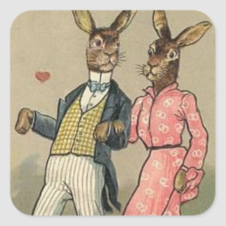 Vintage Easter Bunny Holiday sticker