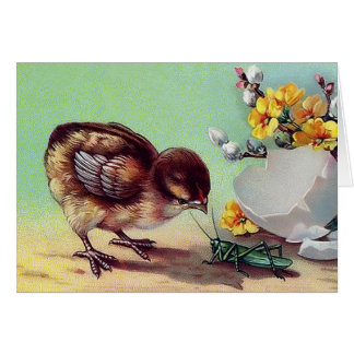 Vintage Easter Chick . Customizable Greeting Cards