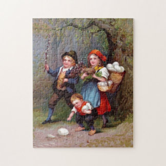 Vintage Easter Egg Hunters Jigsaw Puzzle