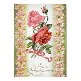Vintage Easter Roses Invitation