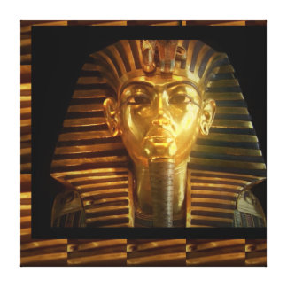 Vintage Egyptian Temple Gods Kings Idols PYRAMID Canvas Print