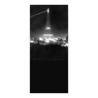Vintage Eiffel Tower at Night Card