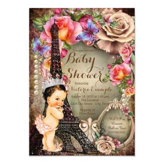 Vintage Eiffel Tower Paris Baby Shower Card