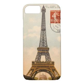 Vintage Eiffel Tower Postcard iPhone 7 Case