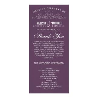 VINTAGE ELEGANCE | WEDDING PROGRAM RACK CARDS