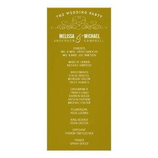 VINTAGE ELEGANCE | WEDDING PROGRAM FULL COLOR RACK CARD