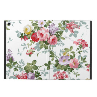 Vintage Elegant Girly Pink Red Roses Pattern Cover For iPad Air