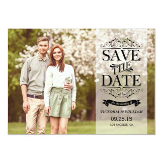Vintage Elegant Overlay Save the Date Announcement