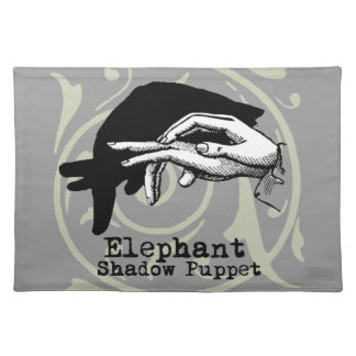 Vintage Elephant Hand Puppet Shadow Games Placemat