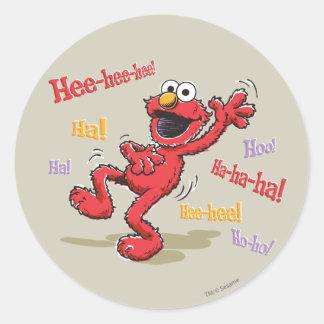 Vintage Elmo Hee-hee! Classic Round Sticker