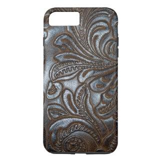 Vintage Embossed Brown Leather iPhone 8 Plus/7 Plus Case