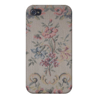 Vintage Embroidery Needlepoint Rose Fabric iPhone 4/4S Cover