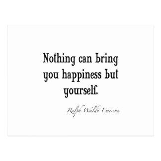 Vintage Emerson Happiness Inspirational Quote Postcard