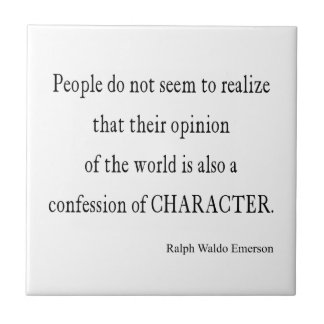 Vintage Emerson Inspirational Character Quote Tile
