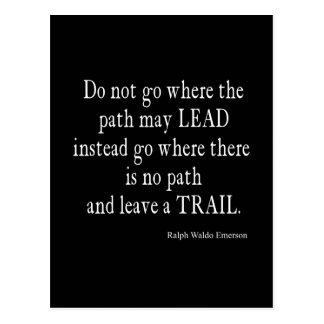 Vintage Emerson Inspirational Leadership Quote Postcard