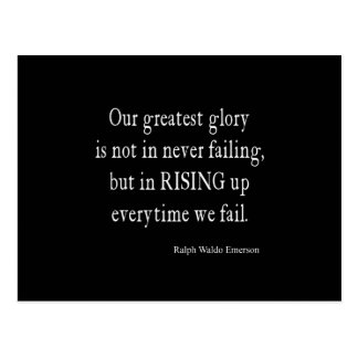 Vintage Emerson Overcoming Failure Quote Postcard